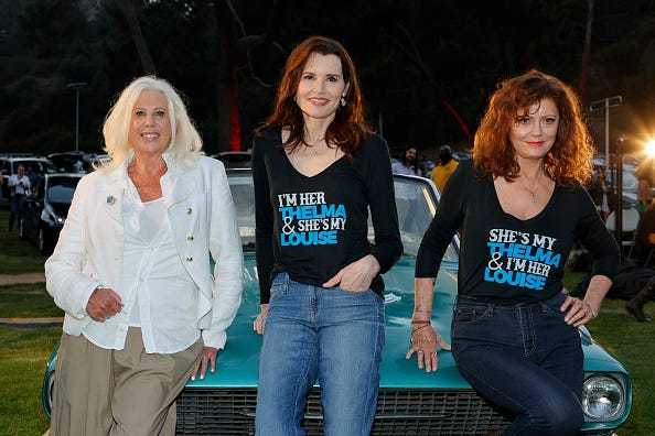 Callie Khouri, Geena Davis, and Susan Sarandon