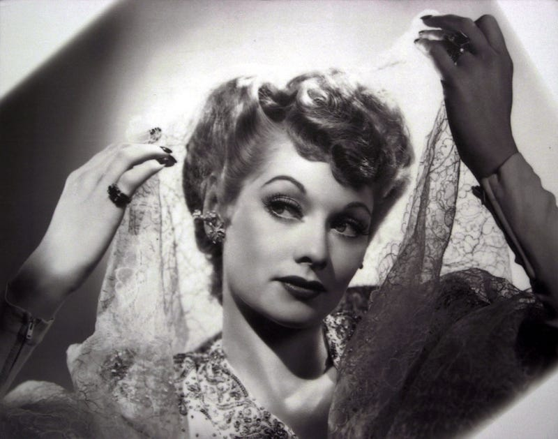 lucille ball looking glamorous in a vintage pic