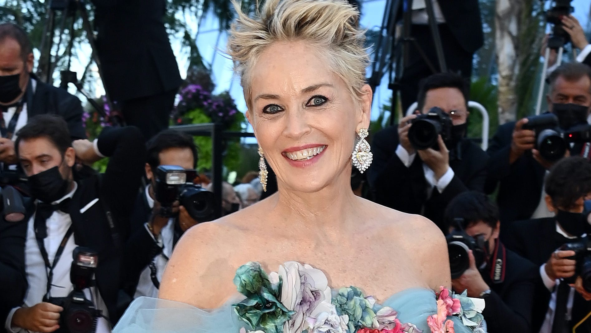 Sharon Stone says she's 'being threatened' for wanting everyone vaccinated on set of latest project