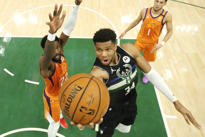 Bucks star Giannis Antetokounmpo.