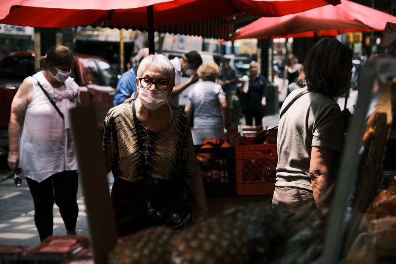 Residents of Brighton Beach Brooklyn shop on July 22, 2021 in New York City