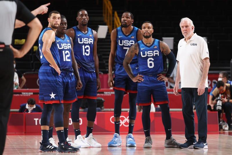 Team USA Basketball at the Tokyo Olympics.