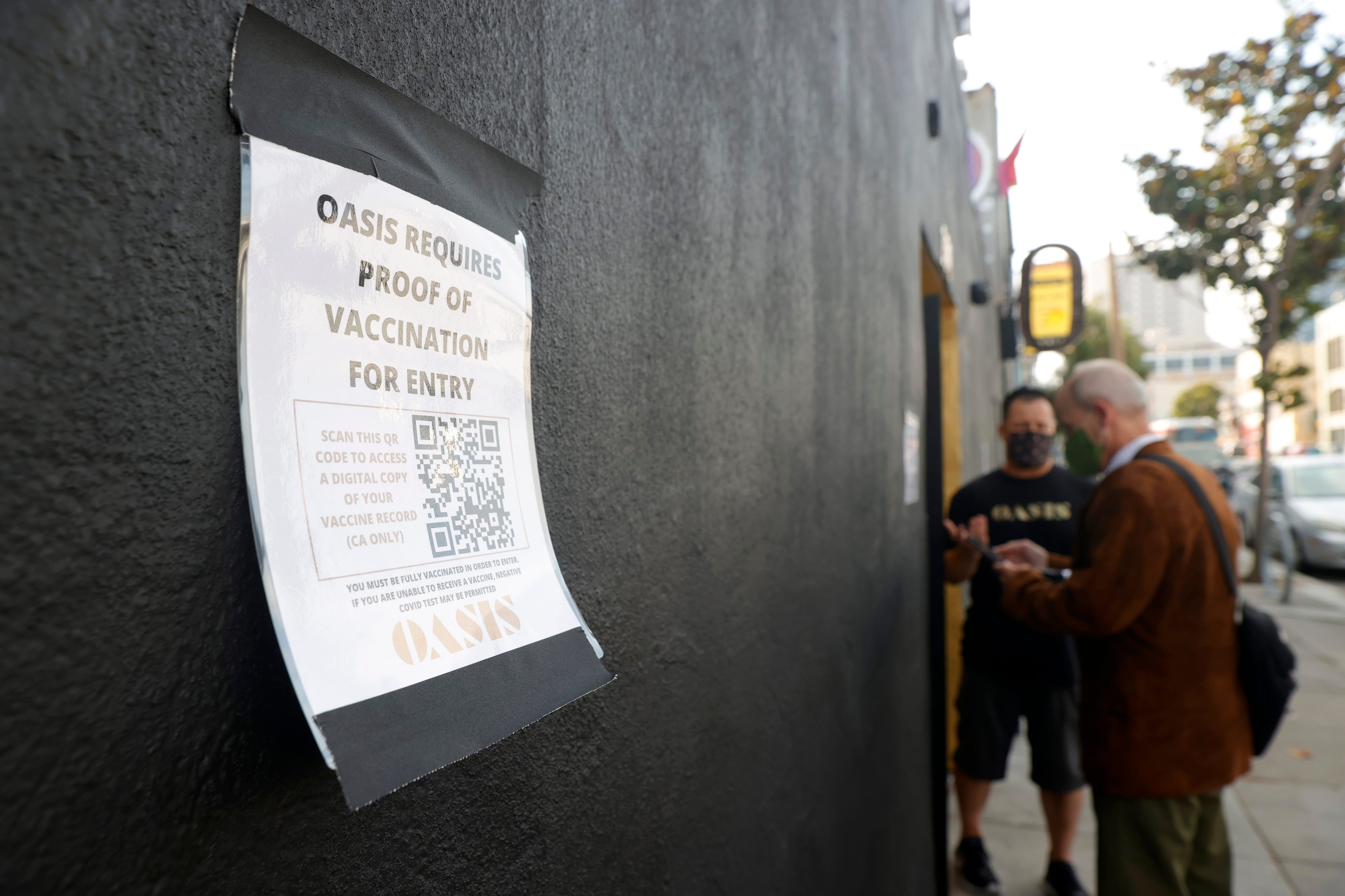 Could San Francisco require vaccine proof to enter indoor restaurants, concerts?