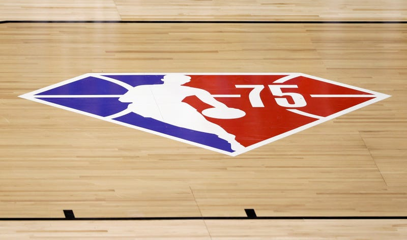 NBA's 75th anniversary logo.