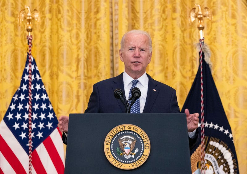 WASHINGTON, DC - SEPTEMBER 08: U.S. President Joe Biden speaks on workers rights and labor unions in the East Room at the White House on September 08, 2021 in Washington, DC. Biden spoke on the need to protect workers rights and the middle class