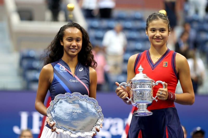 WTA stars Emma Raducanu and Leylah Fernandez.
