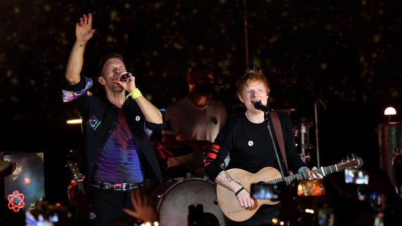 Chris Martin and Ed Sheeran