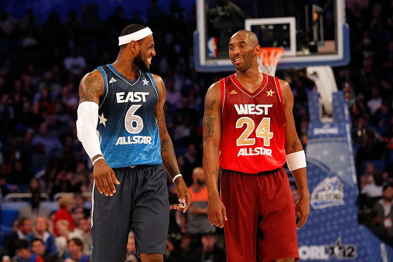 LeBron James and Kobe Bryant at the 2012 NBA All-Star Game