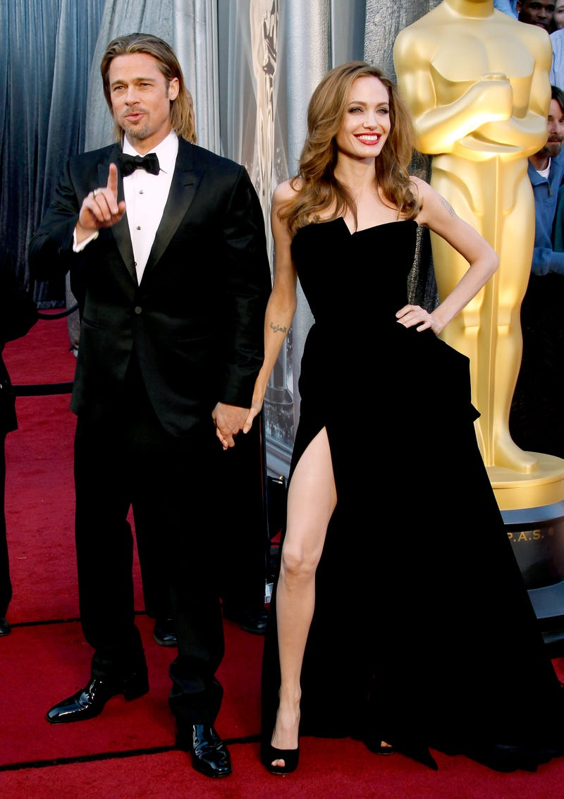 brad pitt and angelina jolie at 2012 academy awards