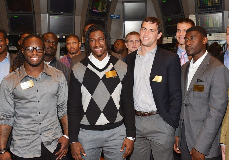 Andrew Luck (third from the left) was part of what was supposed to be a dominant draft class.