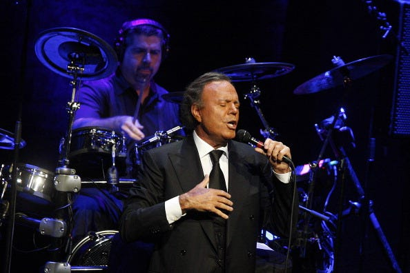 Julio Iglesias performs 'Julio Iglesias In Concert At Gran Teatre del Liceu' In Barcelona on July 4, 2012 in Barcelona, Spain.