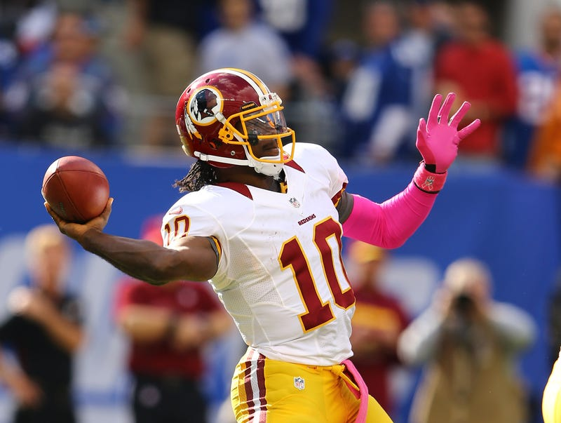 The Redskins traded up to take Robert Griffin III in the 2012 NFL Draft.