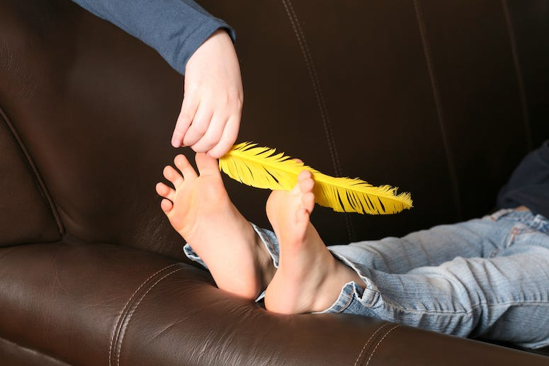 Tickle, Tickling, Feet, Feather