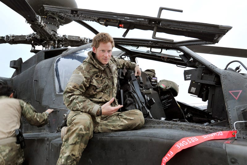 prince harry on apache helicopter while deployed in afghanistan