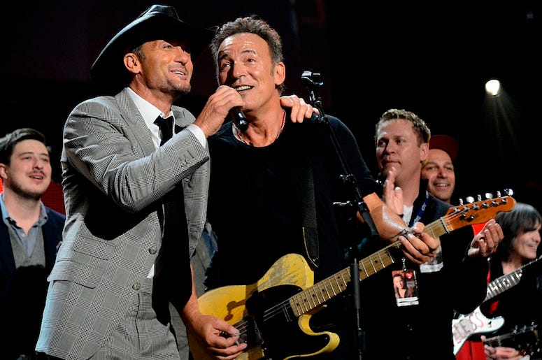 Tim McGraw and Bruce Springsteen