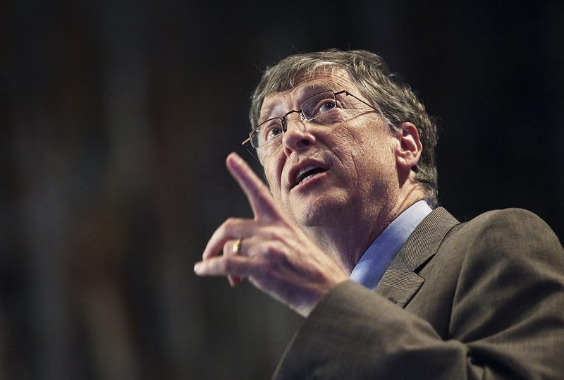 bill gates gesticulating during speech