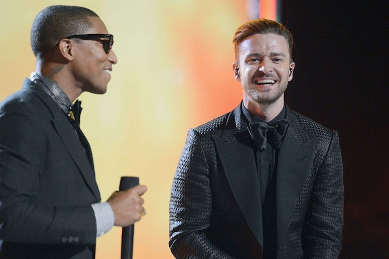Pharrell Williams and Justin Timberlake