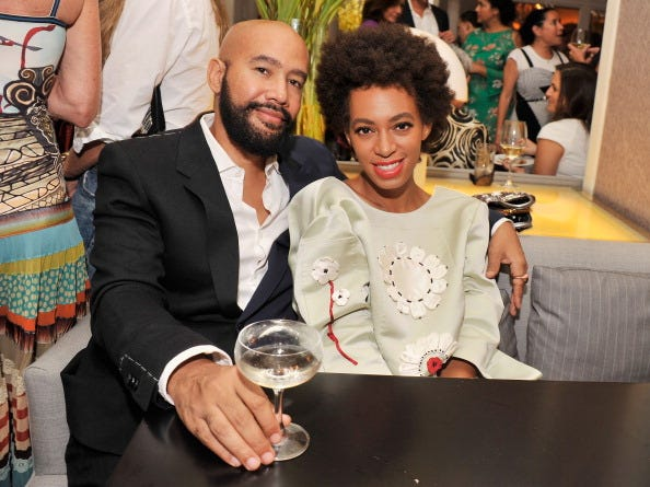 Solange and Alan Ferguson enjoying a night out.