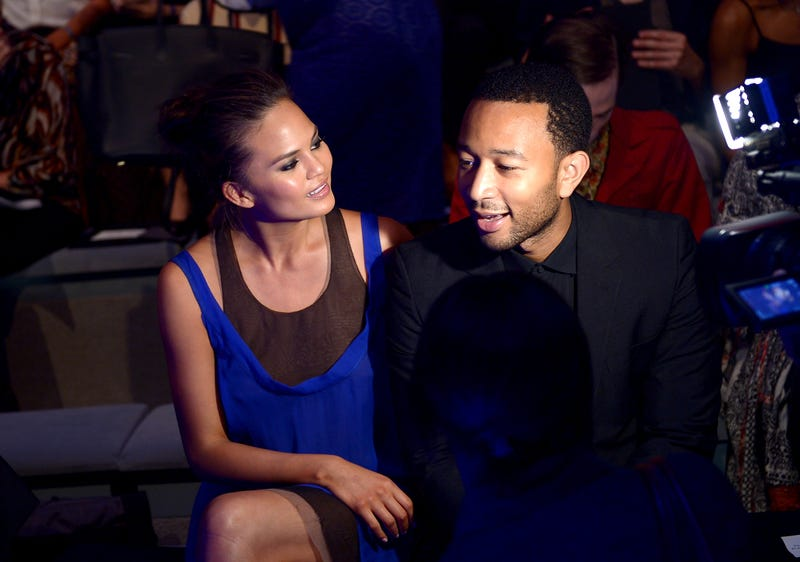 john legend and chrissy tiegen at new york fashion week 2013