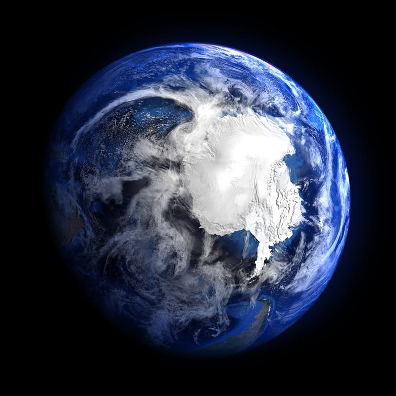 Extremely detailed image of Antarctica from space, including elements furnished by NASA.