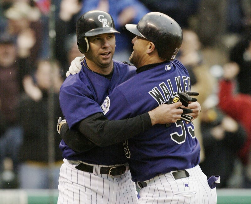 Todd Helton and Larry Walker