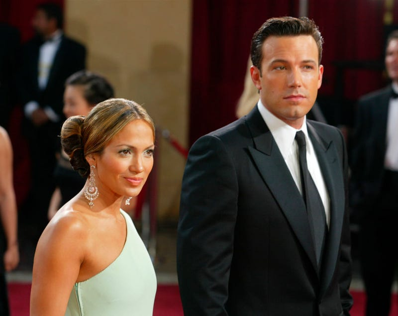 Jennifer Lopez and Ben Affleck attend the 75th Annual Academy Awards in 2003.