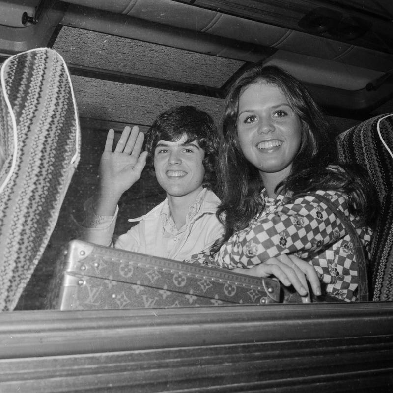 Marie Osmond with her brother Donny in 1974