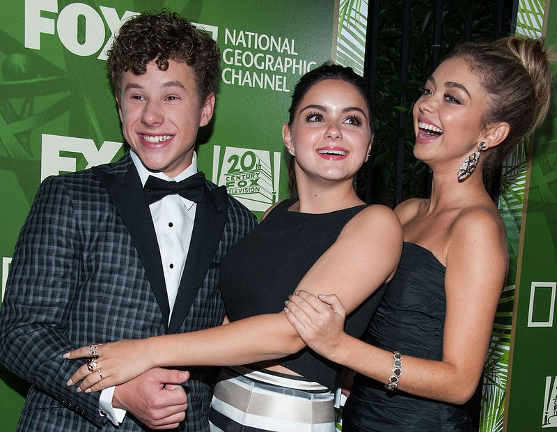 (left to right) Nolan Gould, Ariel Winter and Sarah Hyland