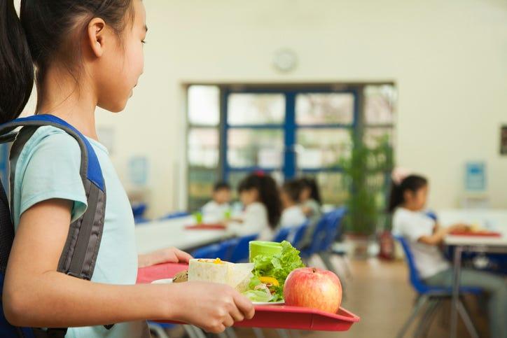 School cafeteria.