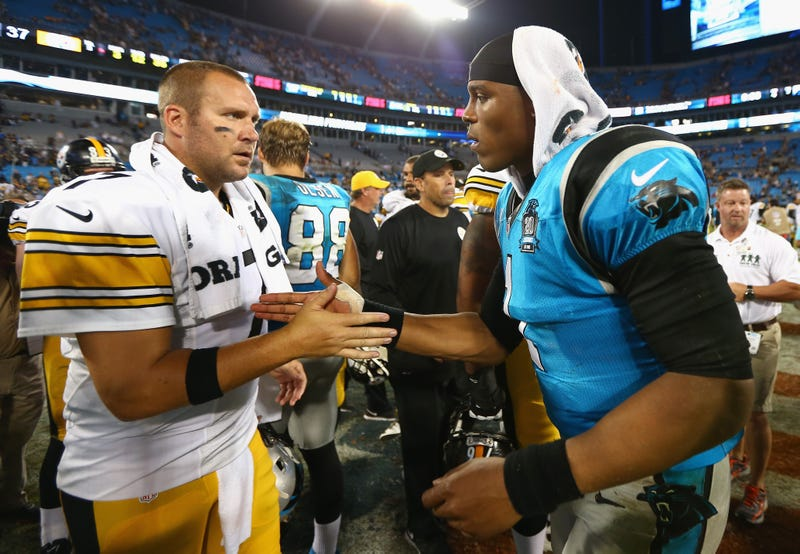 Ben Roethlisberger (left) is unlikely to retire, but if he did, Cam Newton (right) could be an interesting potential replacement.