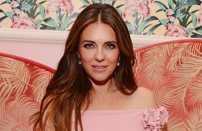 """Actress Elizabeth Hurley attends the """"Hear Our Stories screening after party hosted by the Estee Lauder Companies Breast Cancer Awareness"""