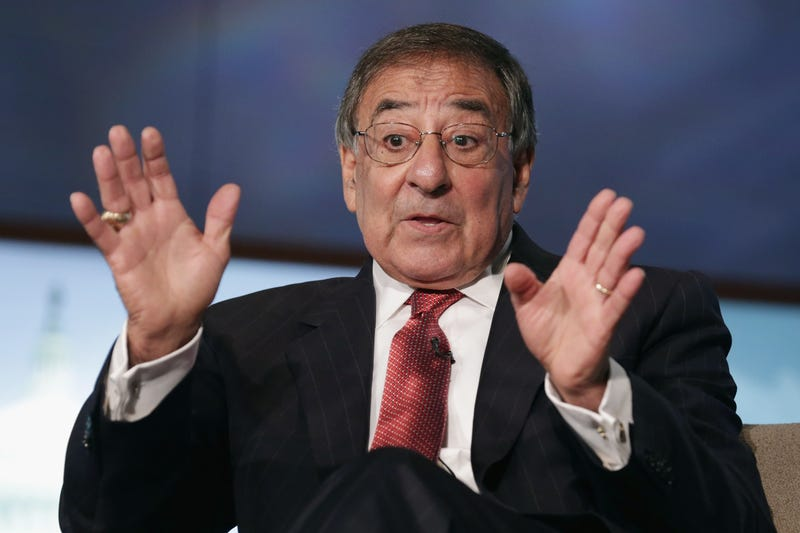 Former Secretary of Defense and director of the Central Intelligence Agency Leon Panetta discuss his new book, 'Worthy Fights,' during an event in the Jack Morton Auditorium at George Washington University October 14, 2014 in Washington, DC.