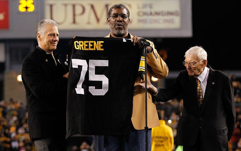 Joe Greene during in number retirement ceremony