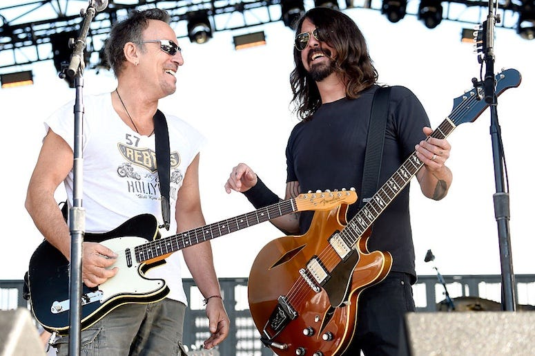 Bruce Springsteen and Dave Grohl