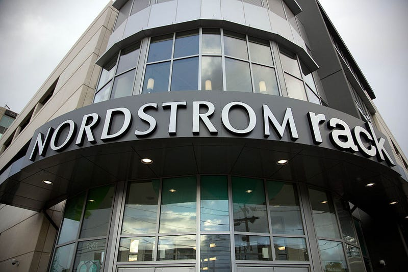 General view of Nordstrom Rack Department Store in Lincoln Park on November 17, 2014 in Chicago, Illinois.