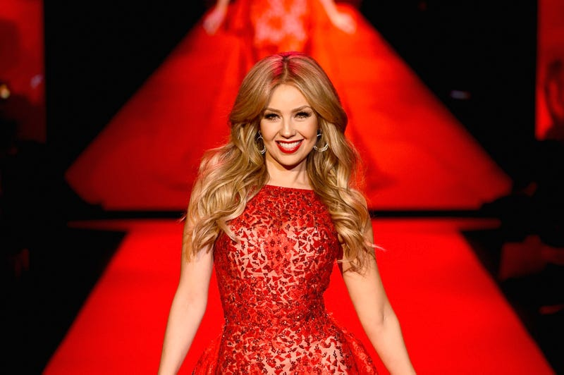 Singer Thalia walks the runway at the Go Red For Women Red Dress Collection