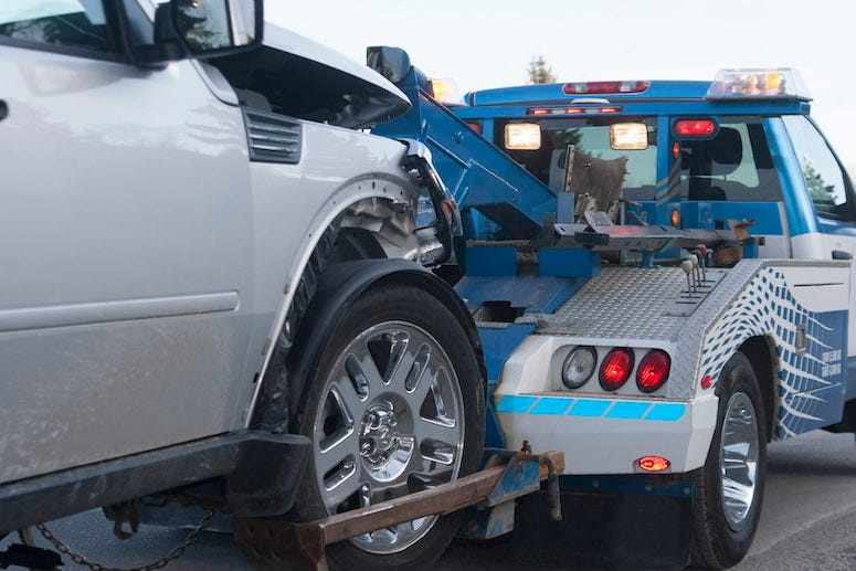 Tow Truck, Car getting towed