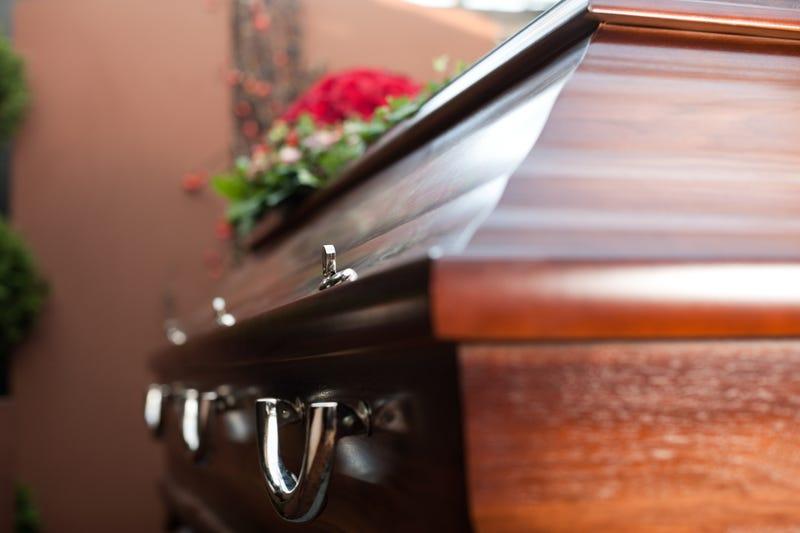 Coffin stock photo