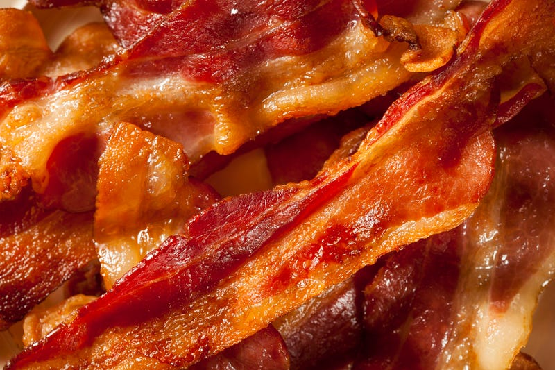 Up-close view of bacon strips