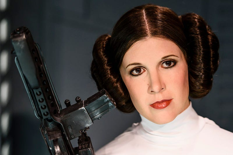 Carrie Fisher as the Star Wars character Leia Organa is displayed on the occasion of Madame Tussauds Berlin Presents New Star Wars Wax Figures.