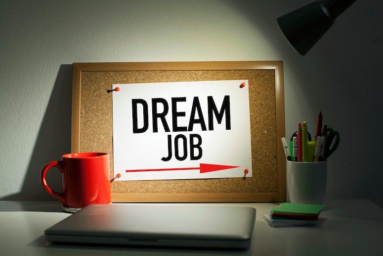 Dream job directional arrow