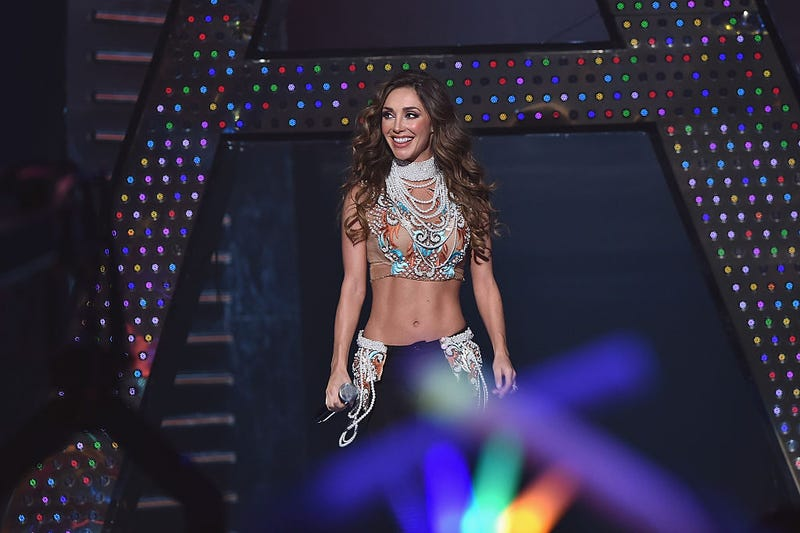 Anahi performs onstage at Univision's Premios Juventud