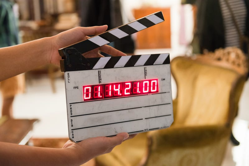 Movie production digital clapper board