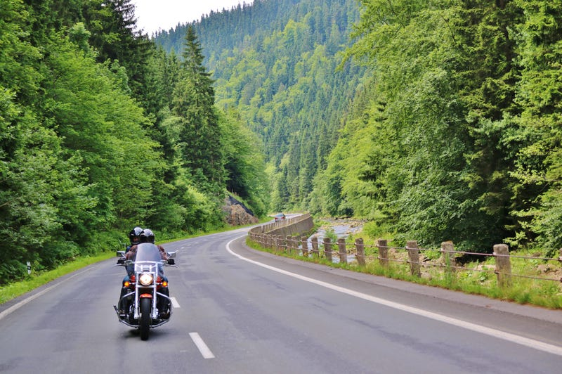 Motorcycle on the rural road - File Photo