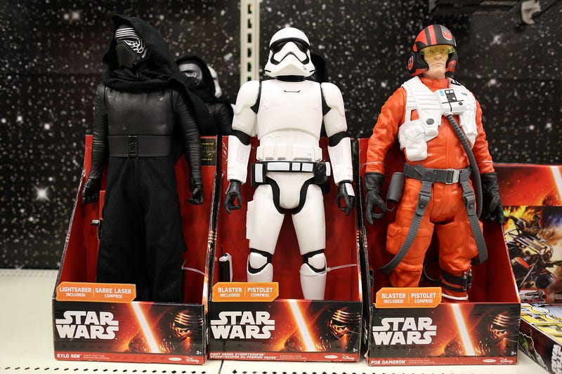 Action figures from Star Wars Episode VII