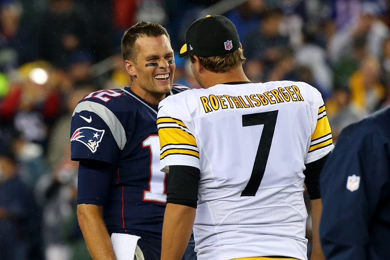 Tom Brady and Ben Roethlisberger will square off Sunday night.