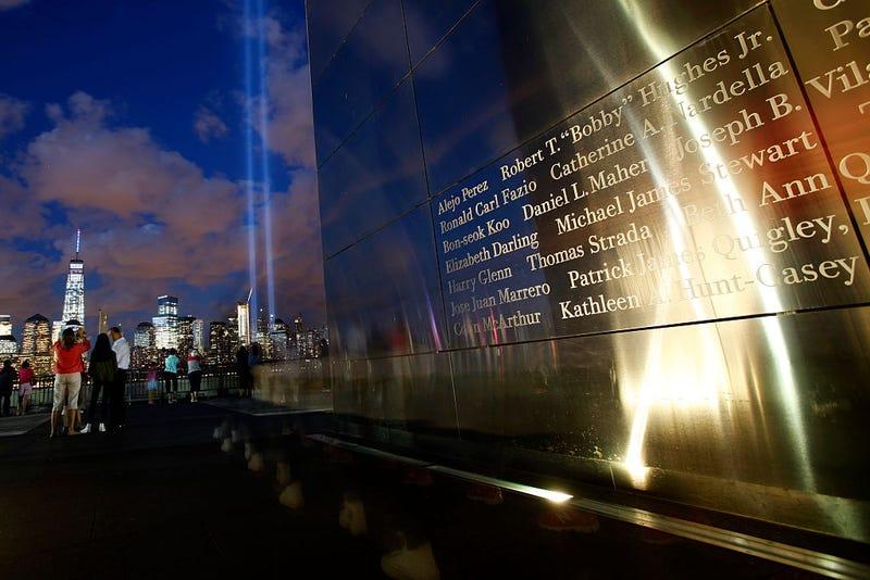 Tributo en luz y nombres de las victimas del WTC 9-11