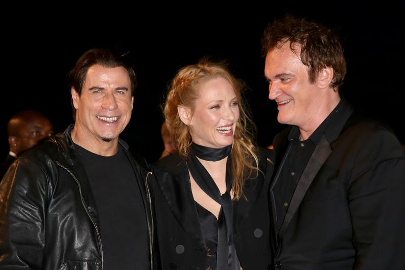 John Travolta, Uma Thurman, and Quentin Tarantino