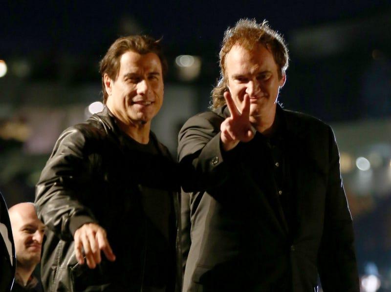 john travolta and quentin tarantino at screening of pulp fiction