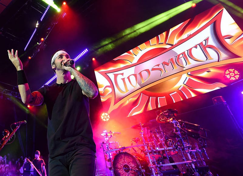 Frontman Sully Erna of Godsmack performs at The Pearl concert theater at Palms Casino Resort on November 14, 2015 in Las Vegas, Nevada